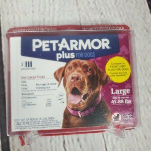 Pet Armor Plus For Large Dogs 45-88 lbs 3 Applicat
